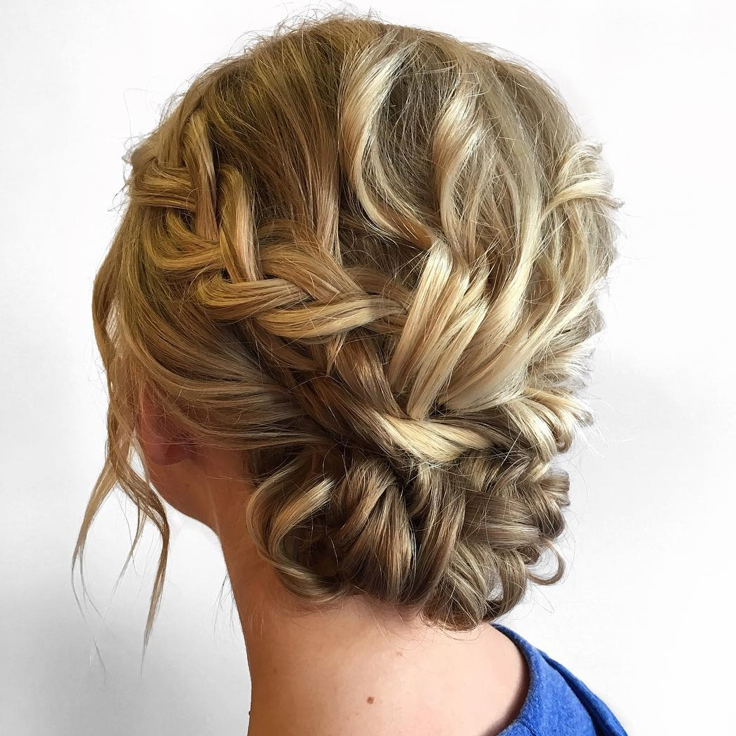 Lovely Bun Updo with Curls and Braids