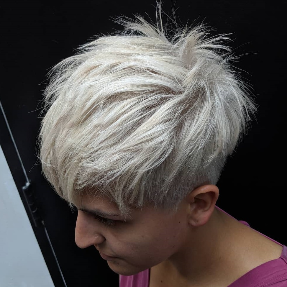 White Blonde Pixie