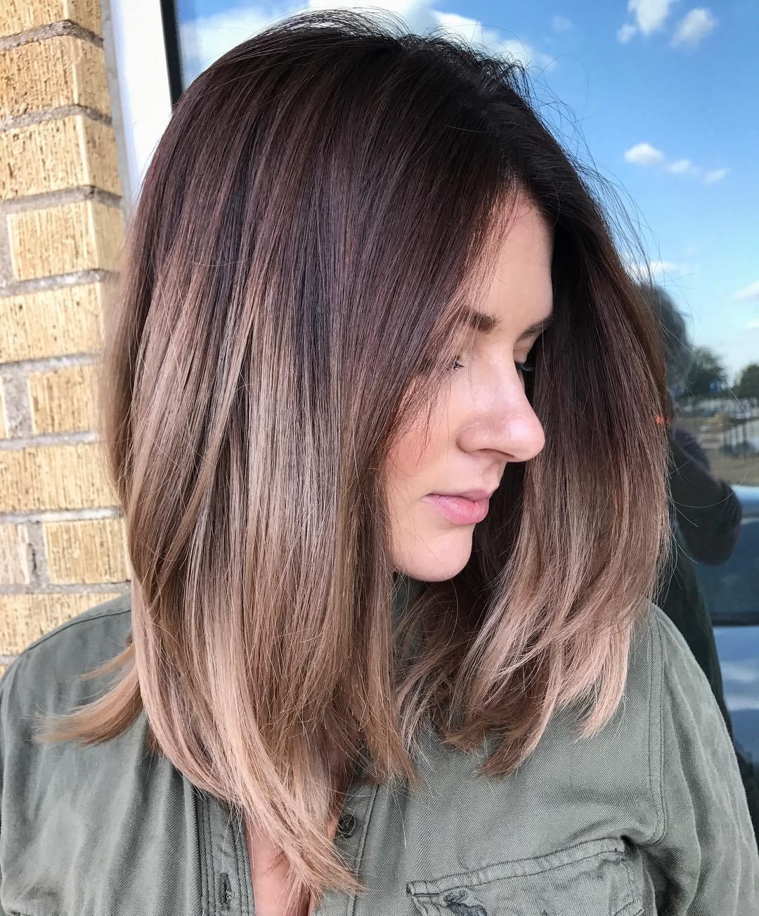 Medium Straight Smooth Hairstyle