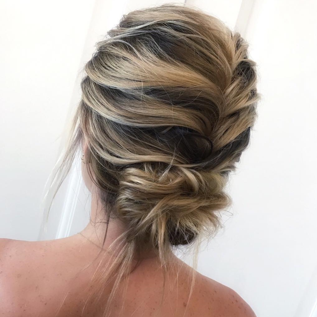 Braid and Bun Updo for Balayage Hair