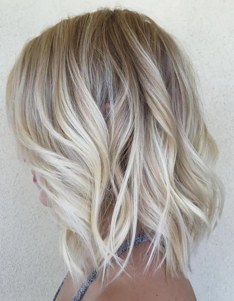 Blonde Wavy Lob