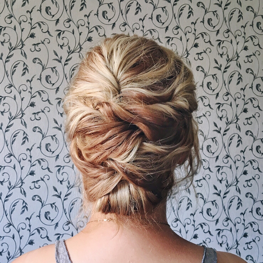 Criss-Cross Updo for Medium Hair