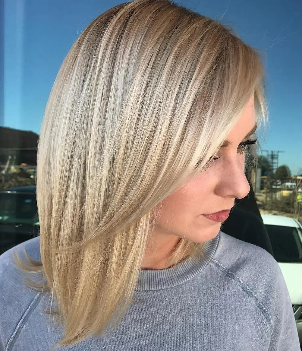 Haircut with Side Bangs for Straight Hair