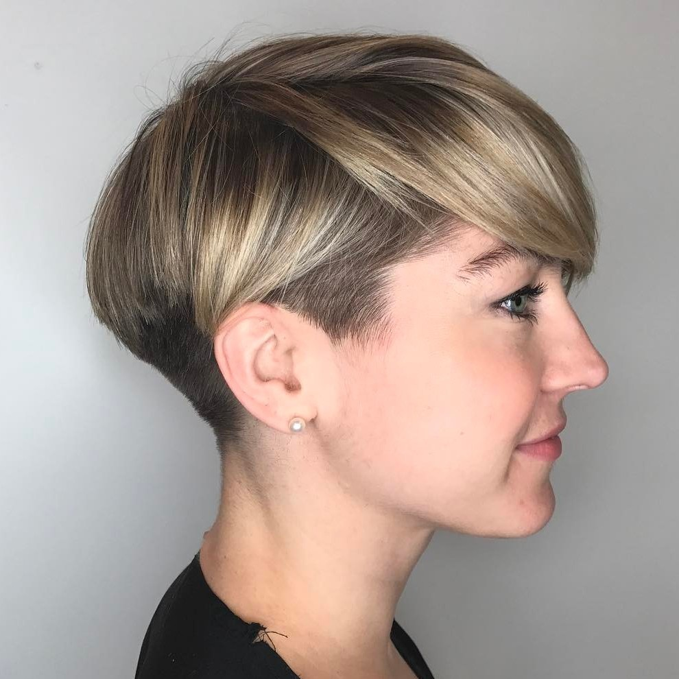 Classy Tapered Pixie with Blonde Highlights