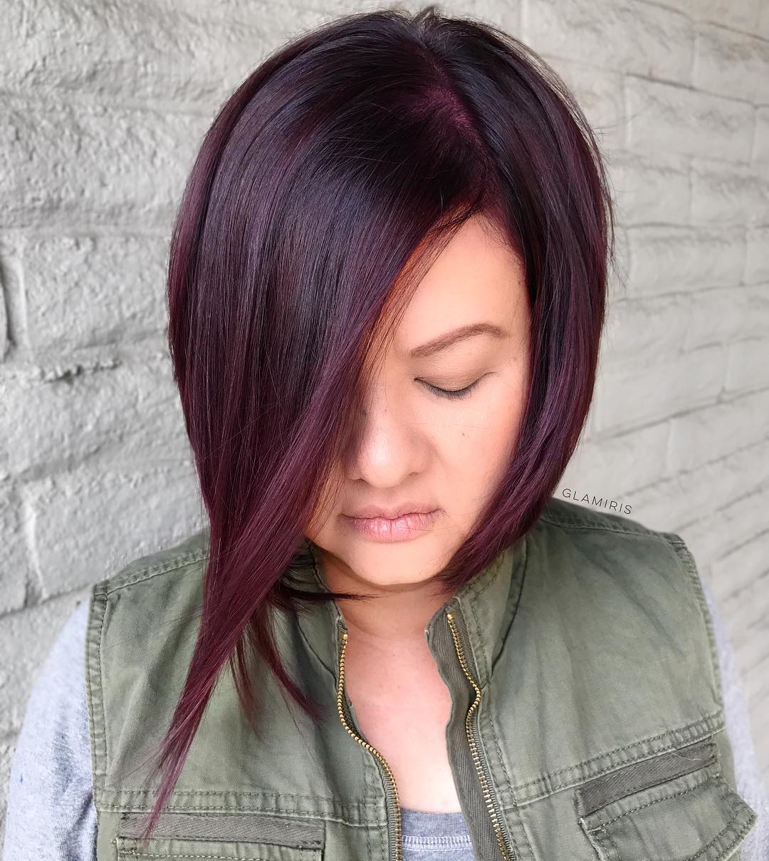 Dark Purple Inverted Bob