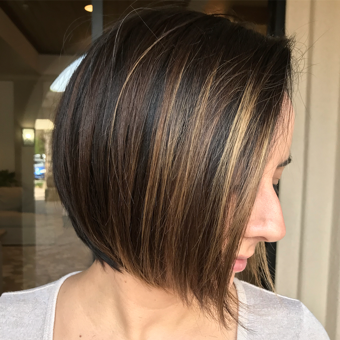 Straight Bob with Longer Ends in the Front