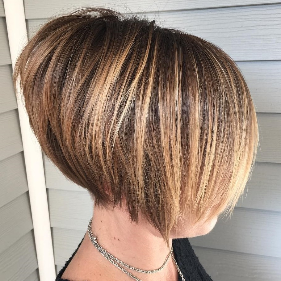 Short Stacked Bob with Short Layers in the Back