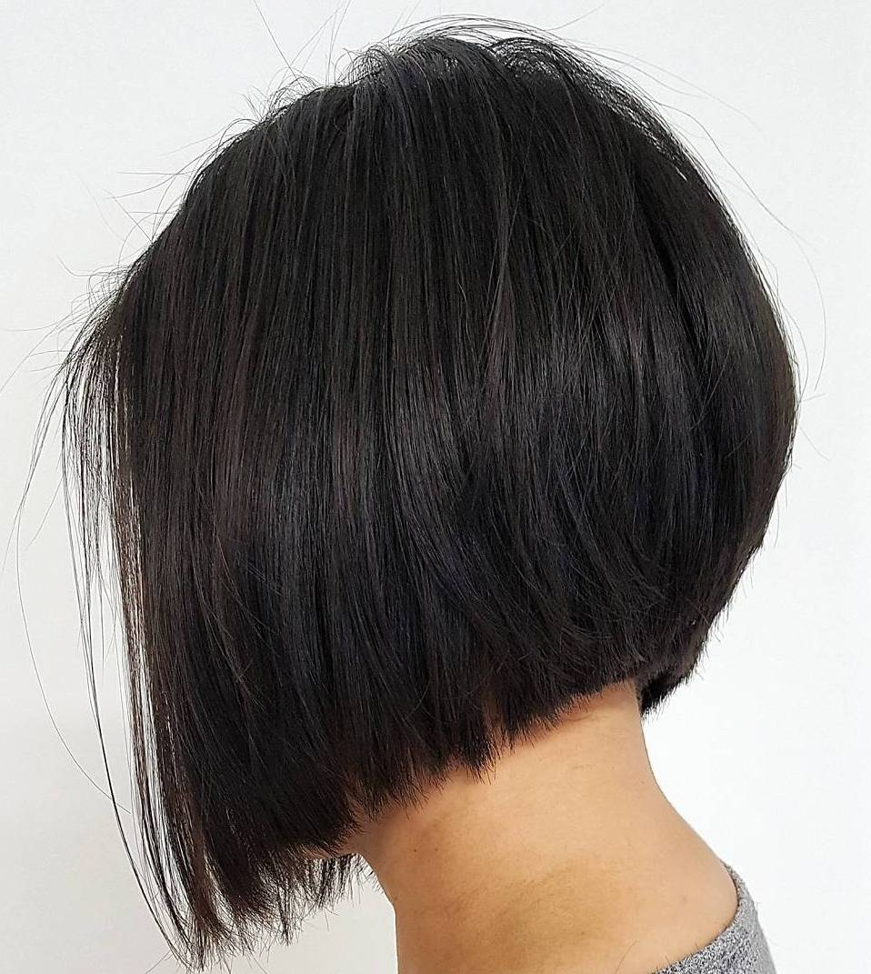 Inverted Bob Cut for Straight Hair