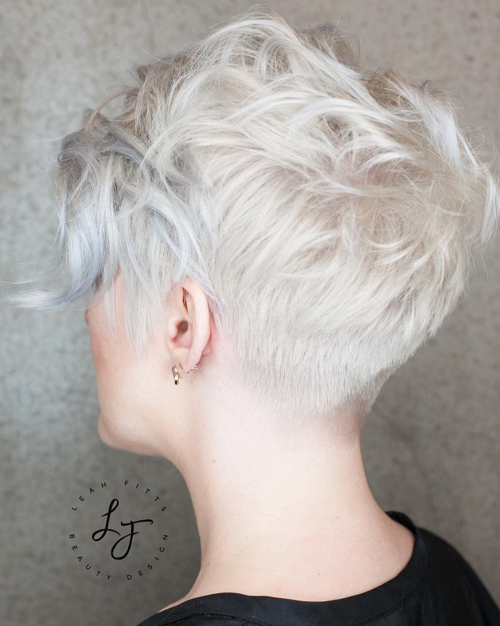 Tapered White Pixie with Soft Waves