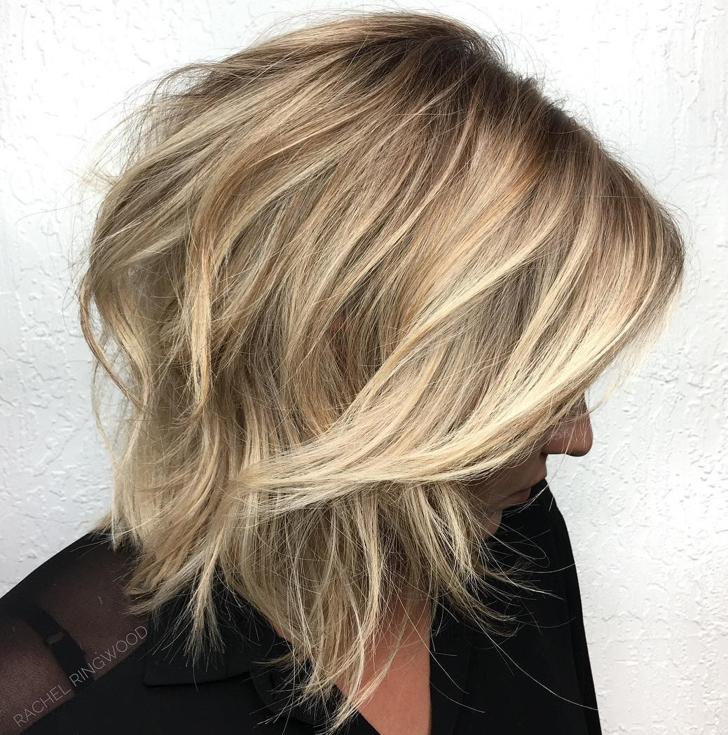 Textured Blonde Bob Shag