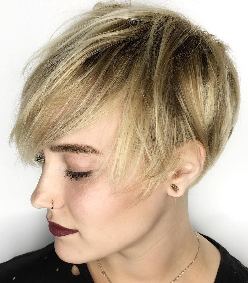 Textured Pixie with Choppy Layers