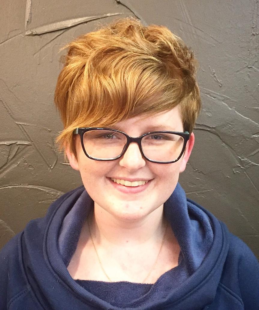 Wavy Pixie with Glasses