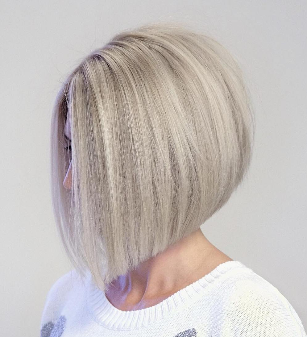 Sleek Angled Bob with Graduated Layers
