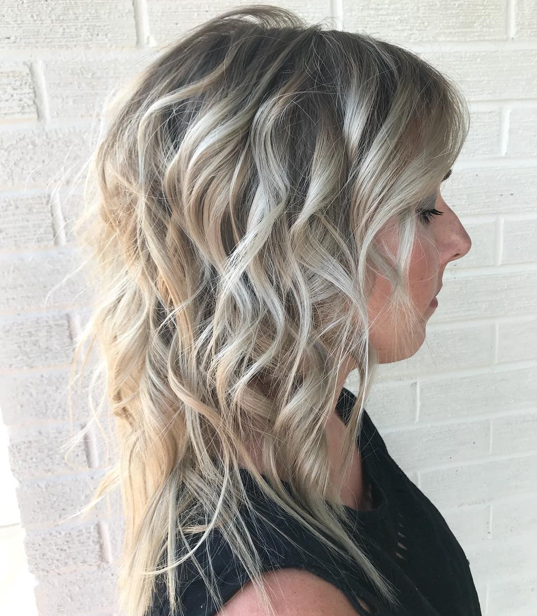 Shoulder Length Shag with Curls