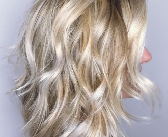 Blonde Wavy Shag with Platinum Highlights