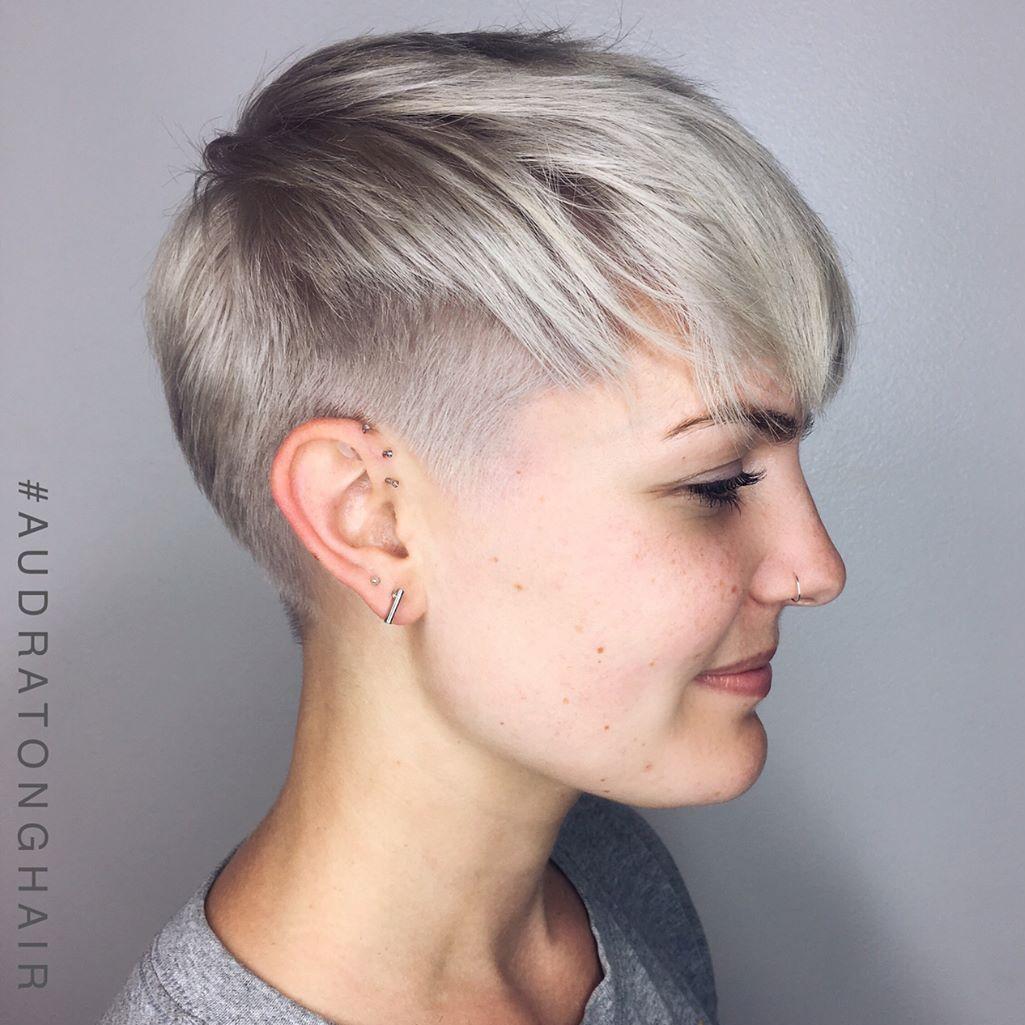 Silver Undercut Pixie
