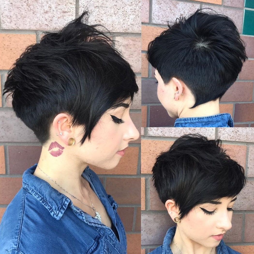Black Tapered Pixie