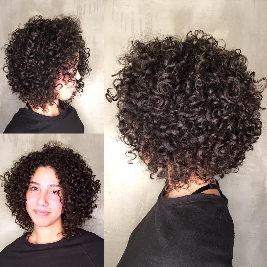 Feminine Rounded Bob for Curls