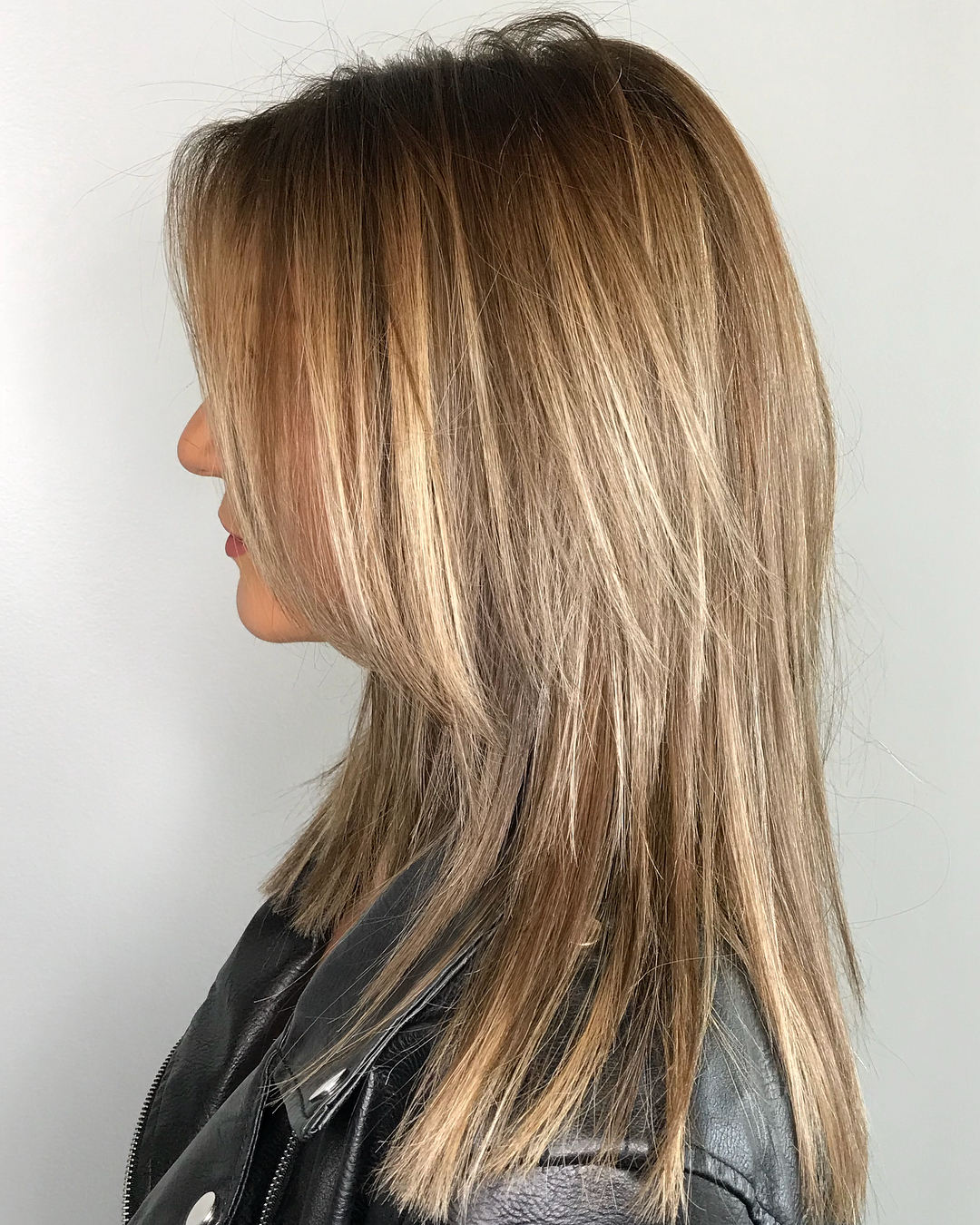 Two-Tier Cut with Bronde Balayage