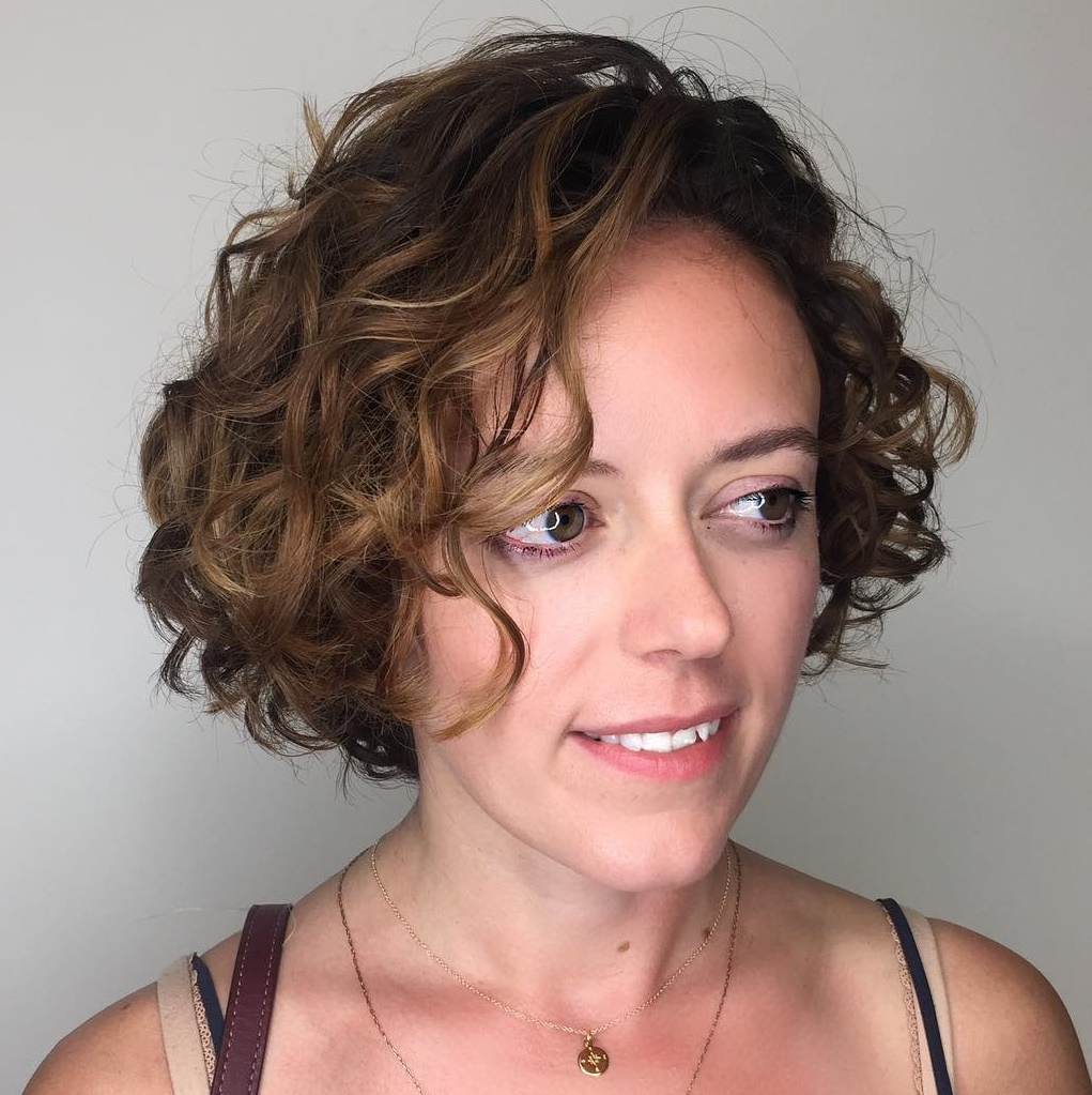 Very Short Bob for Curly Hair