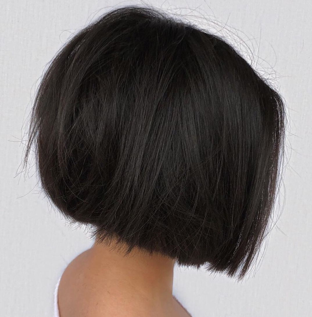 Blunt Bob Cut with Textured Ends