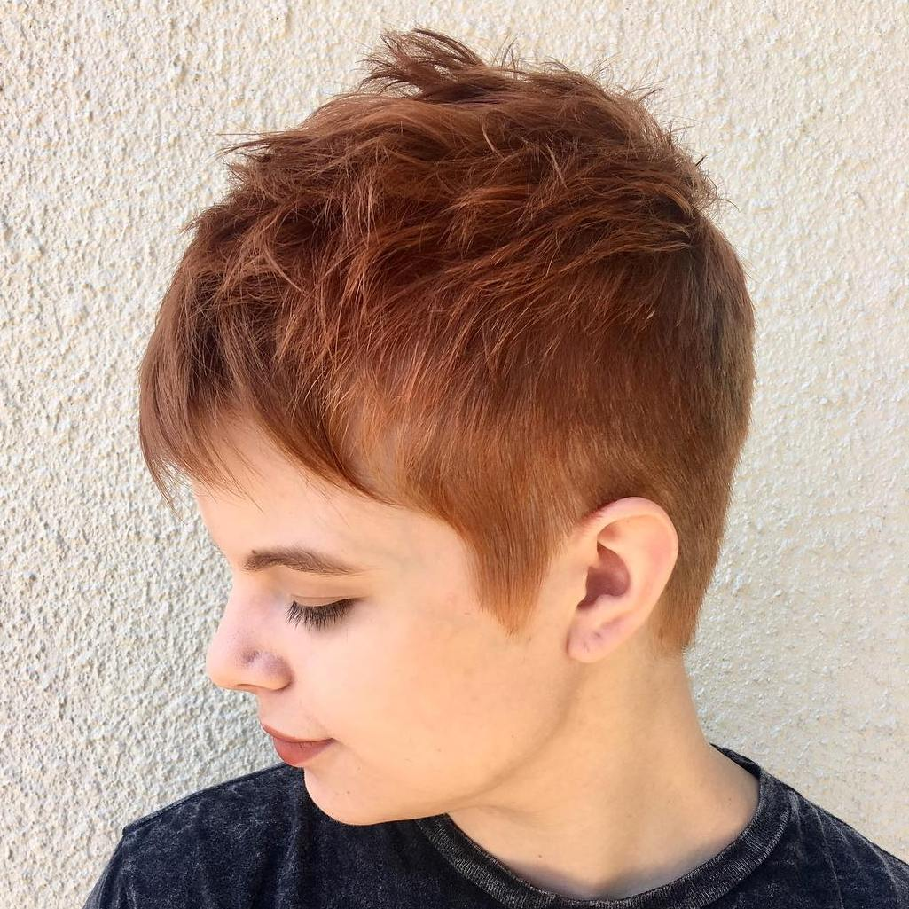 Pixie for Thin Hair and Round Face