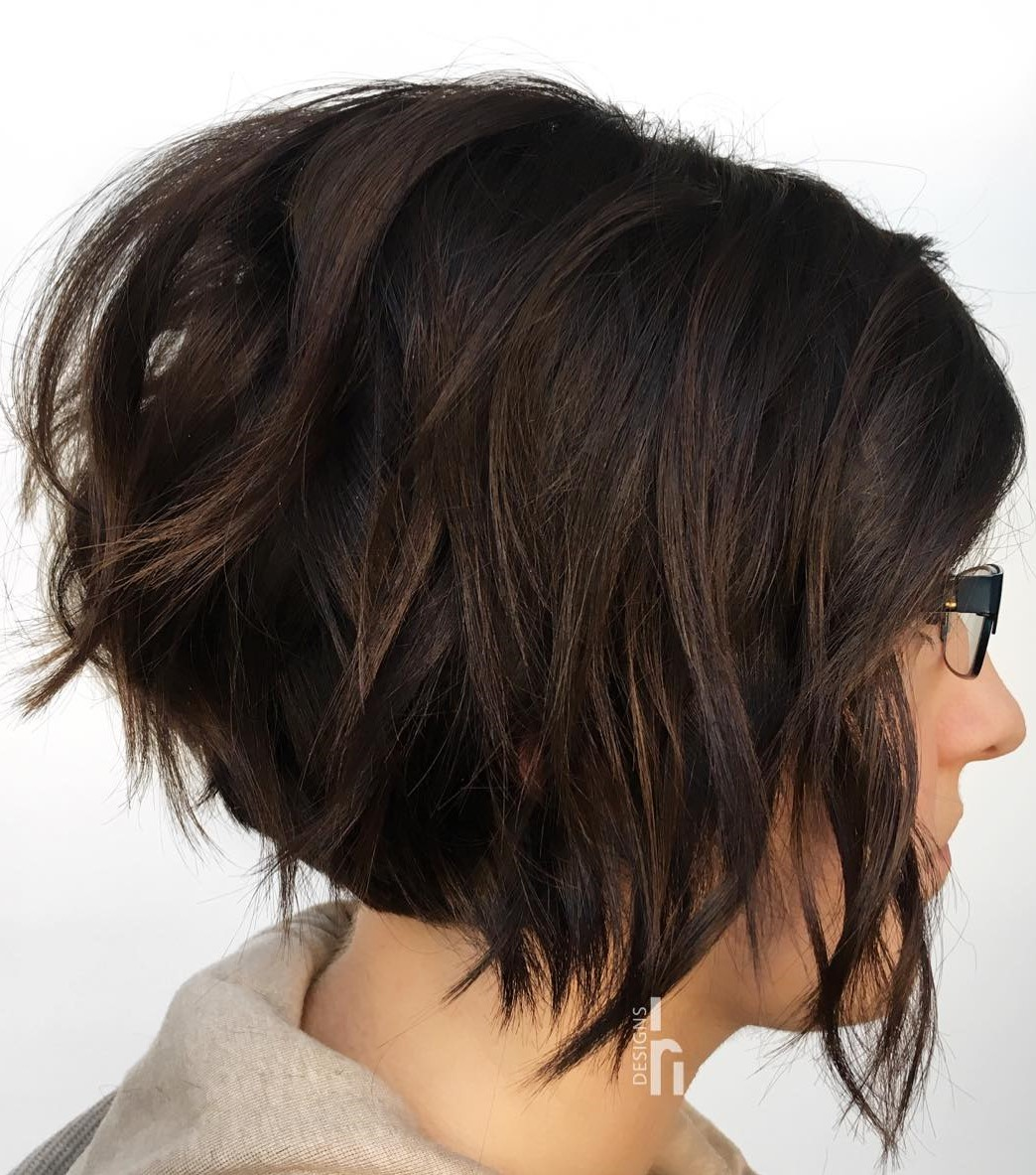 Edgy Wavy Pixie Bob Haircut