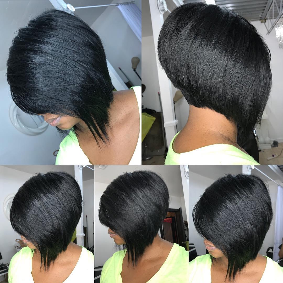 Asymmetrical Black Bob Style