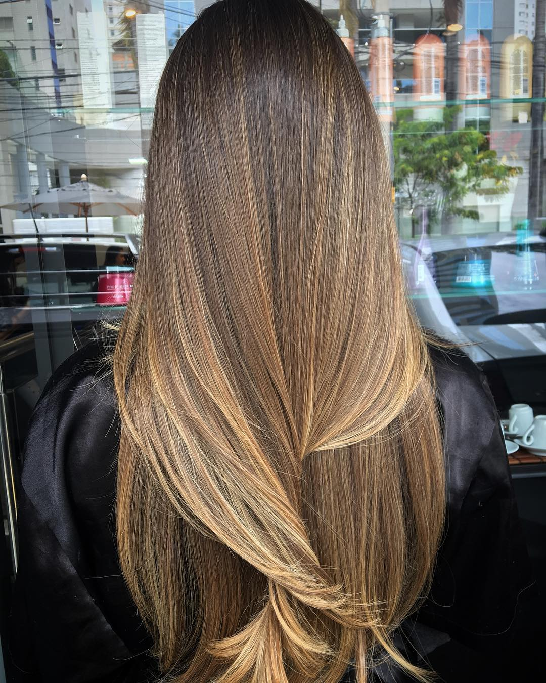 Straight Bronde Balayage Hair