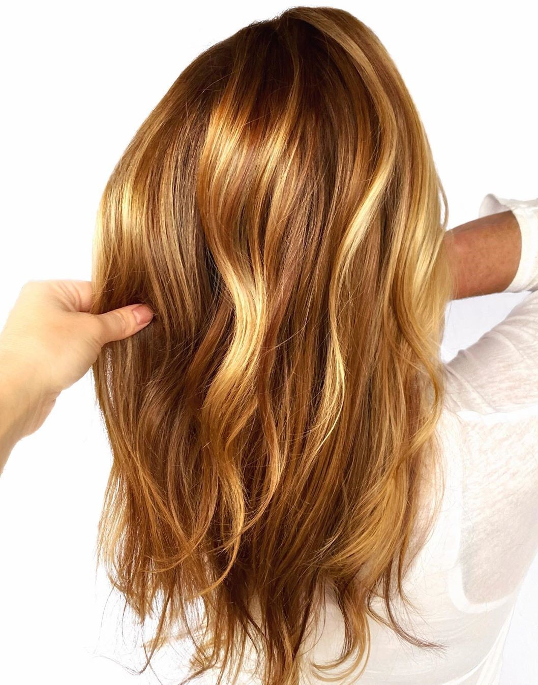 Caramel and Golden Blonde Highlights