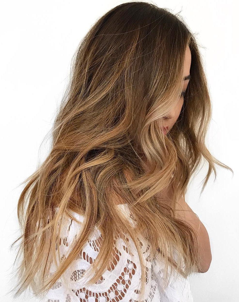 Auburn Balayage for Chestnut Brown Hair