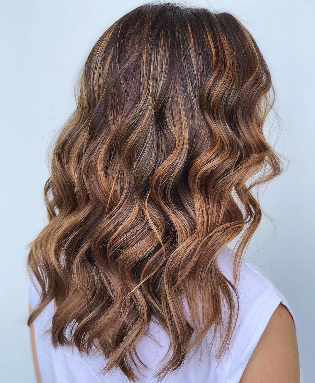 Chocolate and Caramel Brown Hair Highlights