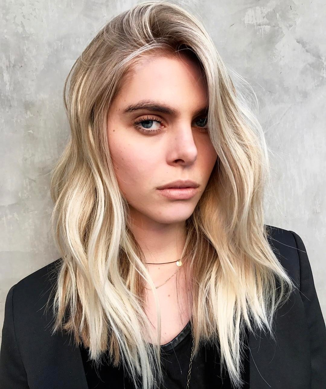 Medium Choppy Blonde Hairstyle