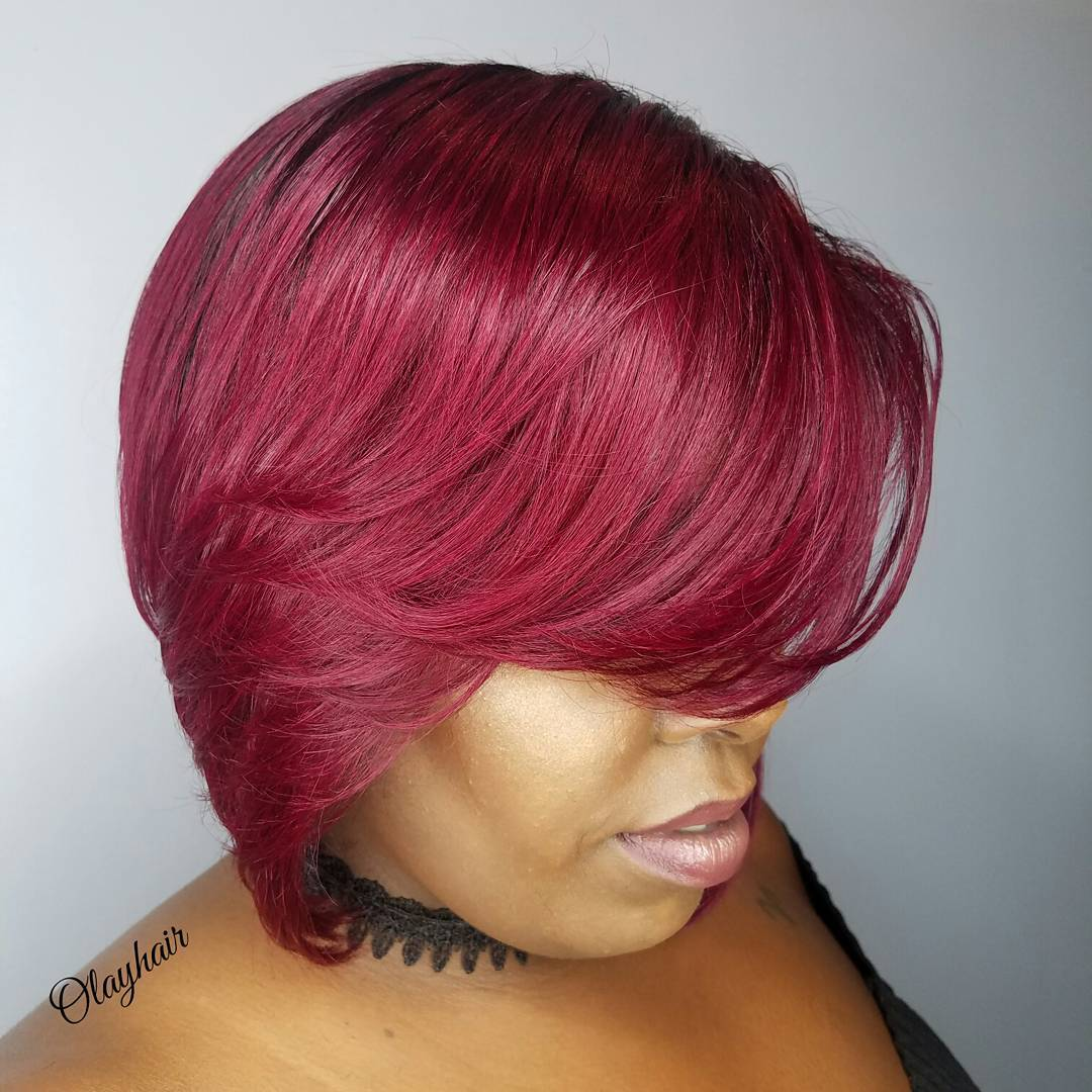 Magenta Bob for Black Women