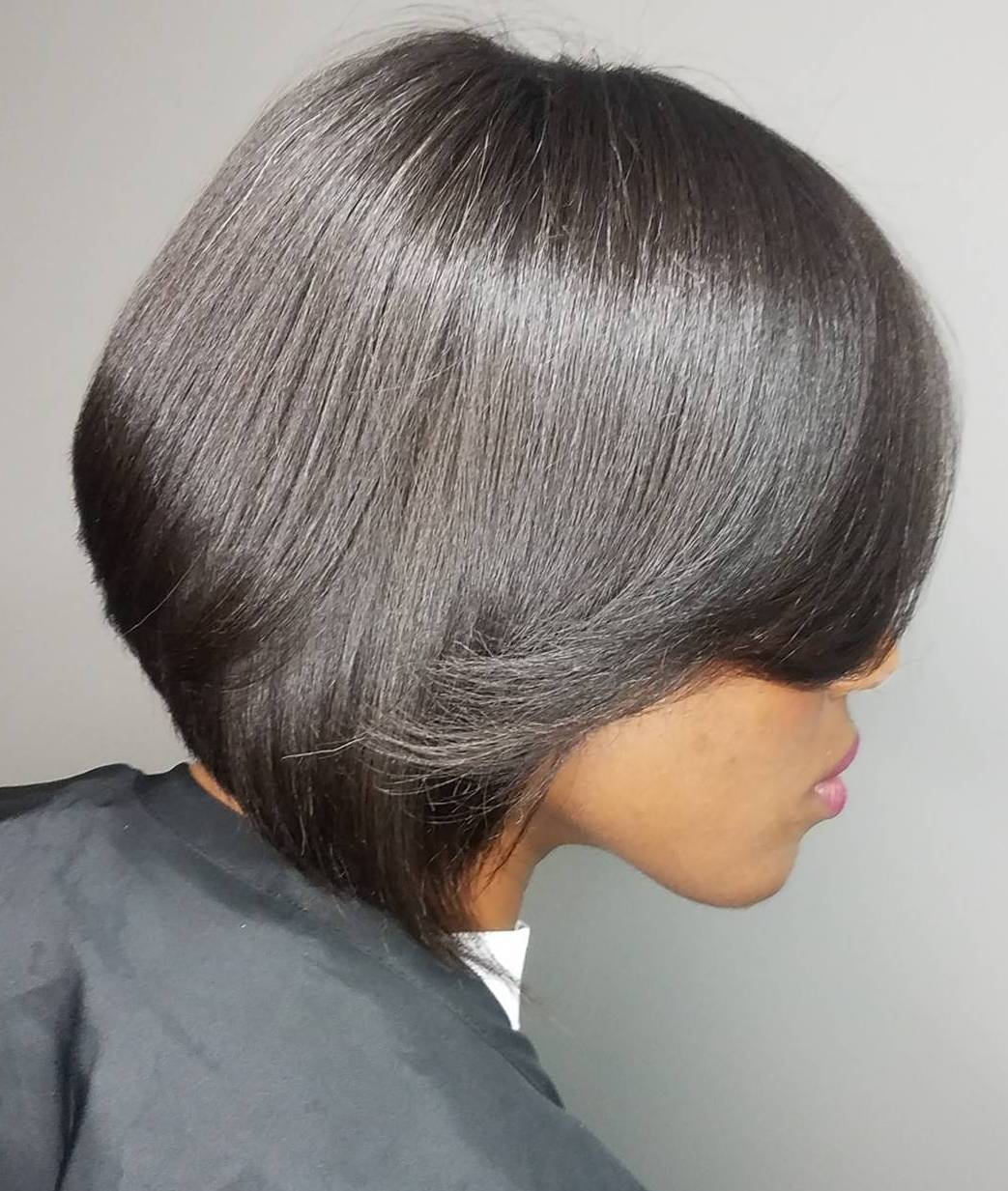 Polished Shiny Black Bob