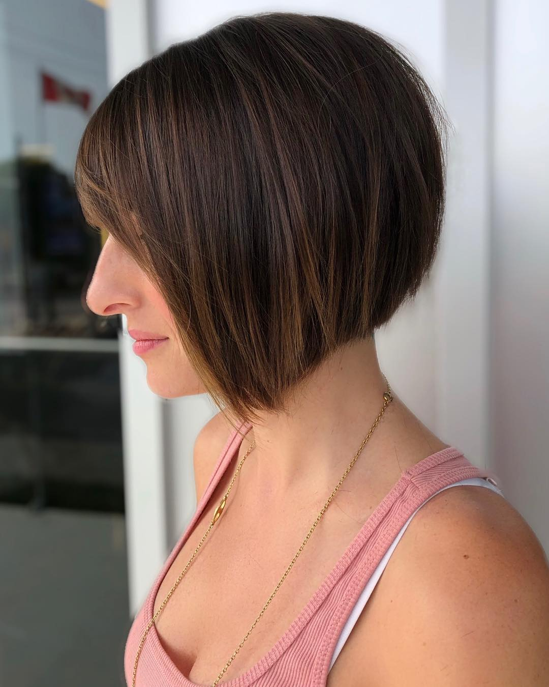 Bob with bangs and Subtle Highlights