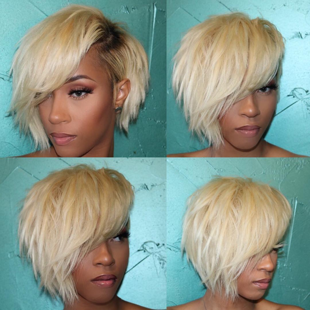Chic Messy Bob with Choppy Layers