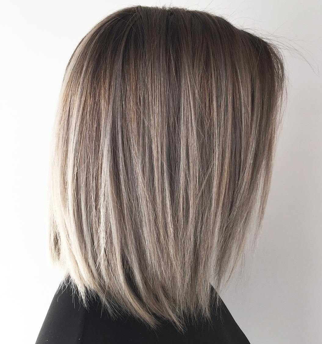 Textured Smokey Bronde Lob