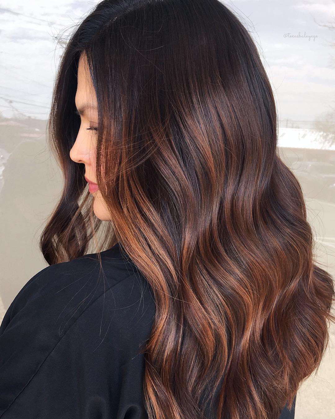 Caramel Highlights for Maple Brown Hair