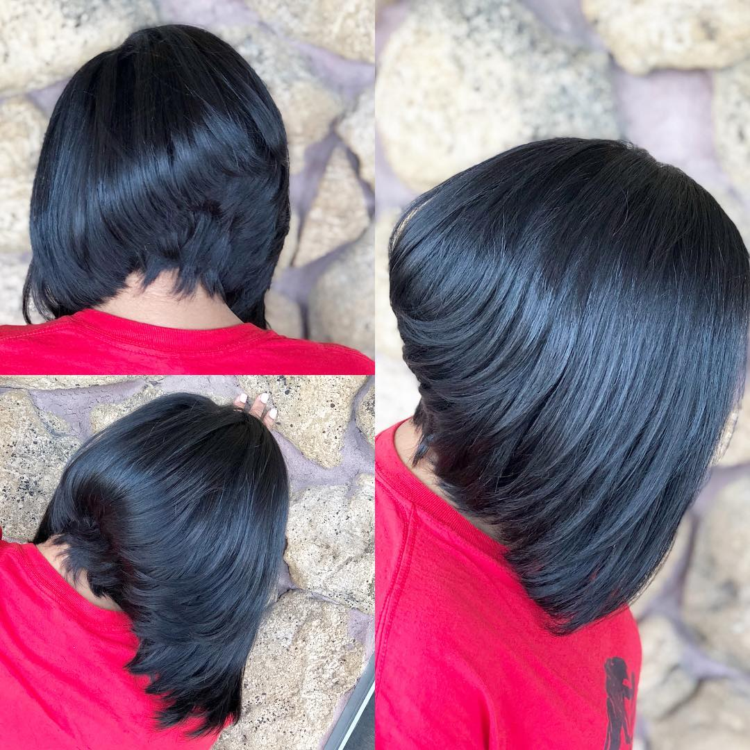 Cute Stacked Black Bob