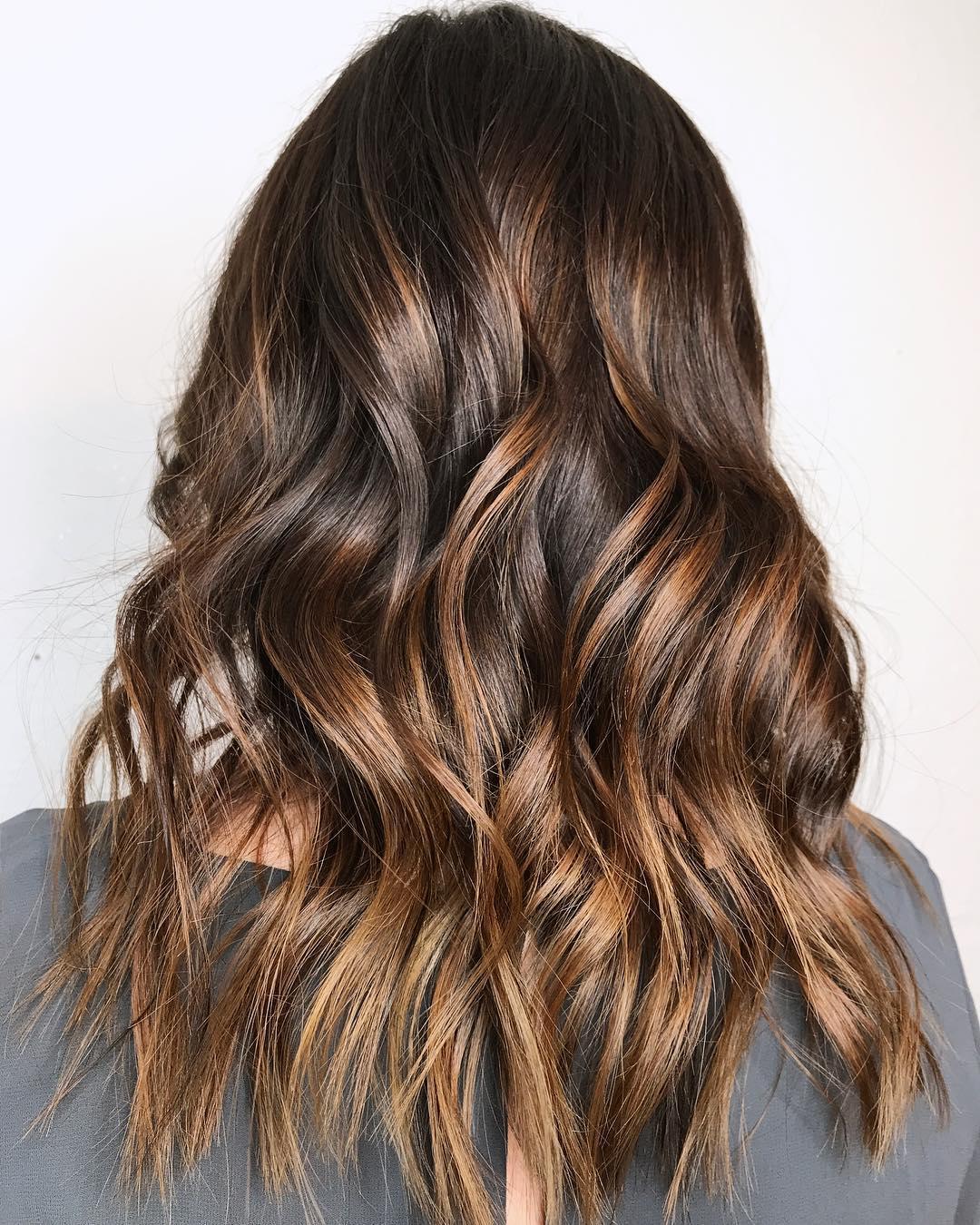 Toasted Brown Balayage Hair