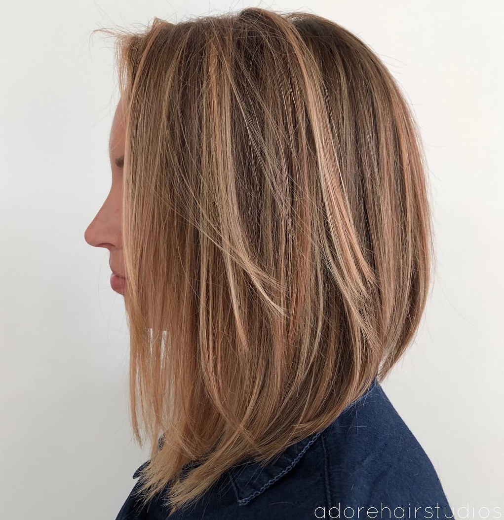 Chic Layered Longer Bob