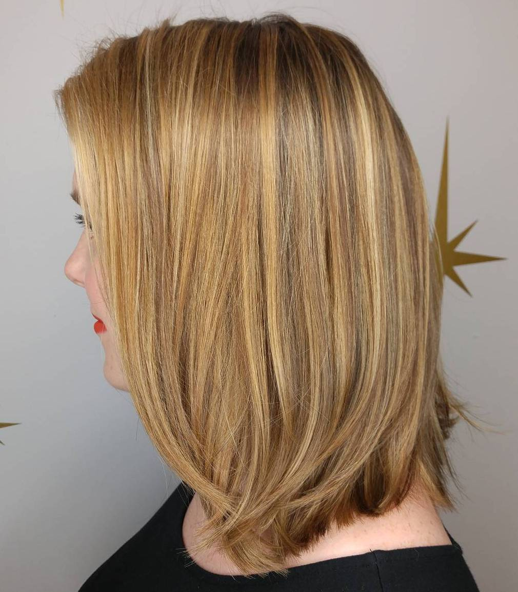 Golden Blonde Long Bob
