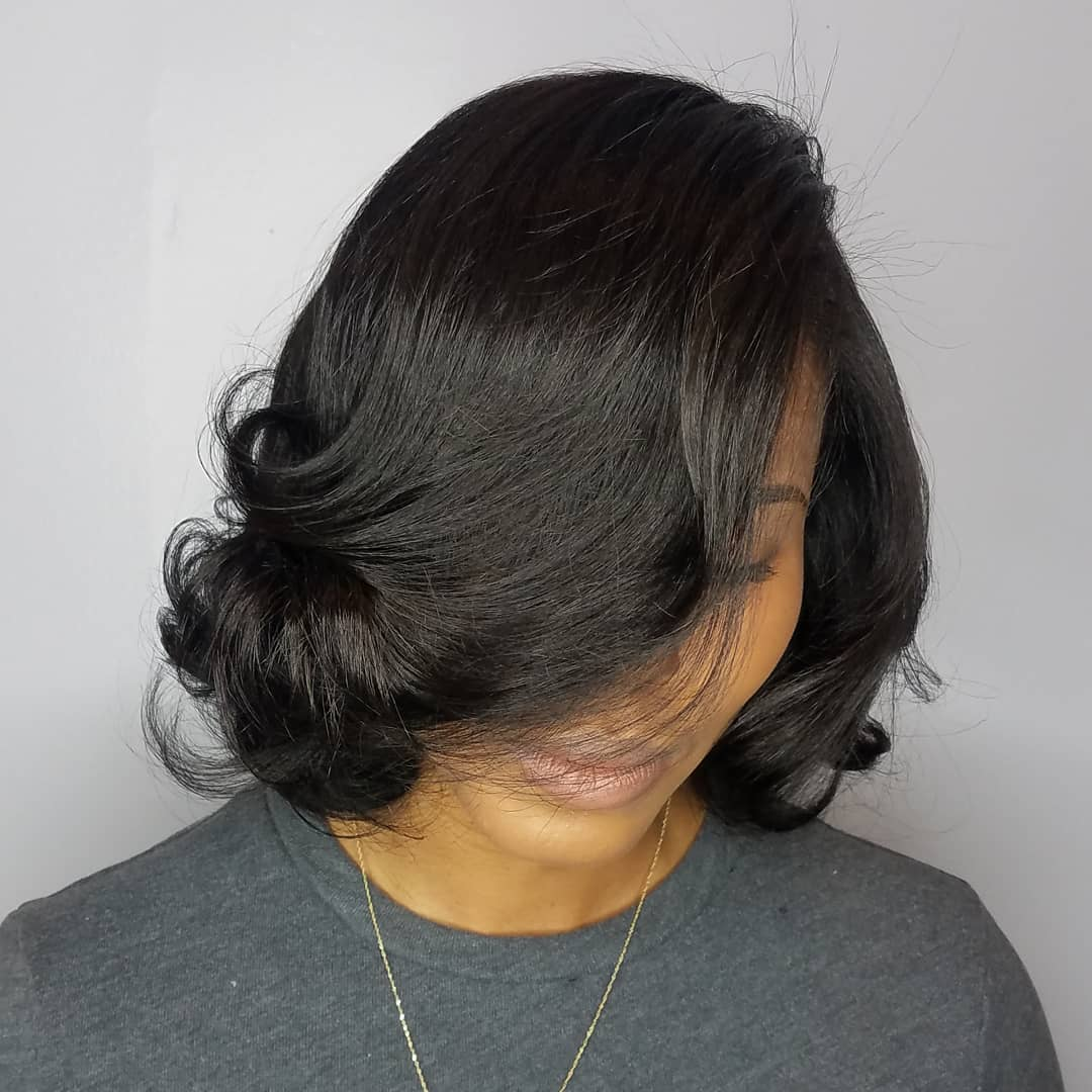 Black Bob with Curls