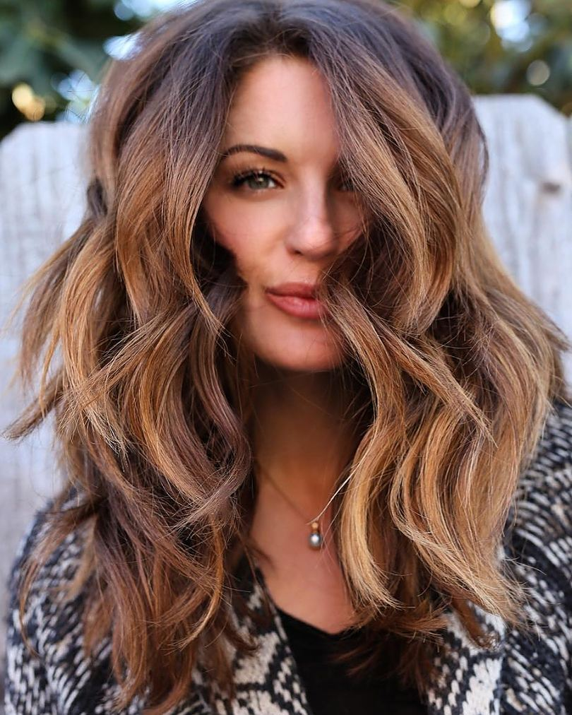 Caramel Balayage for Tan Skin