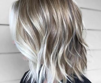Dark Blonde shag with White Highlights