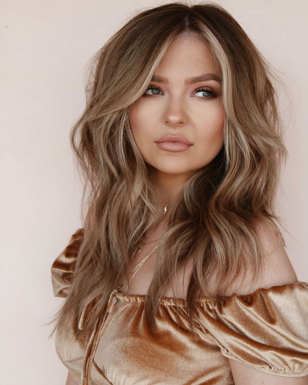 Soft Caramel Highlights for Bronde Hair