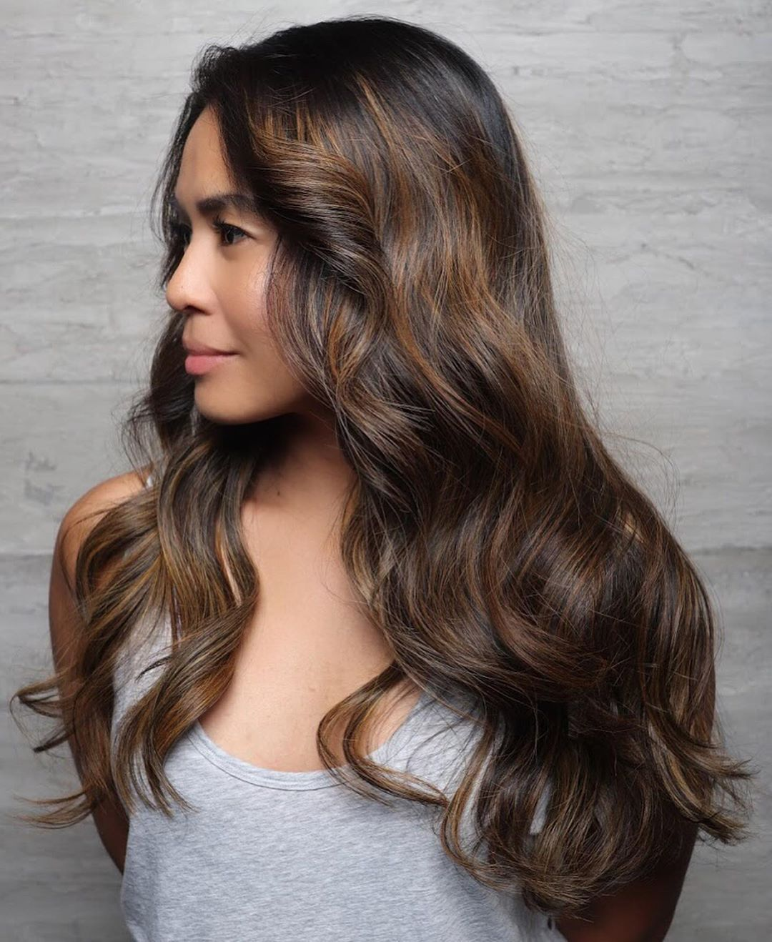 Natural Caramel Highlights for Brown Hair