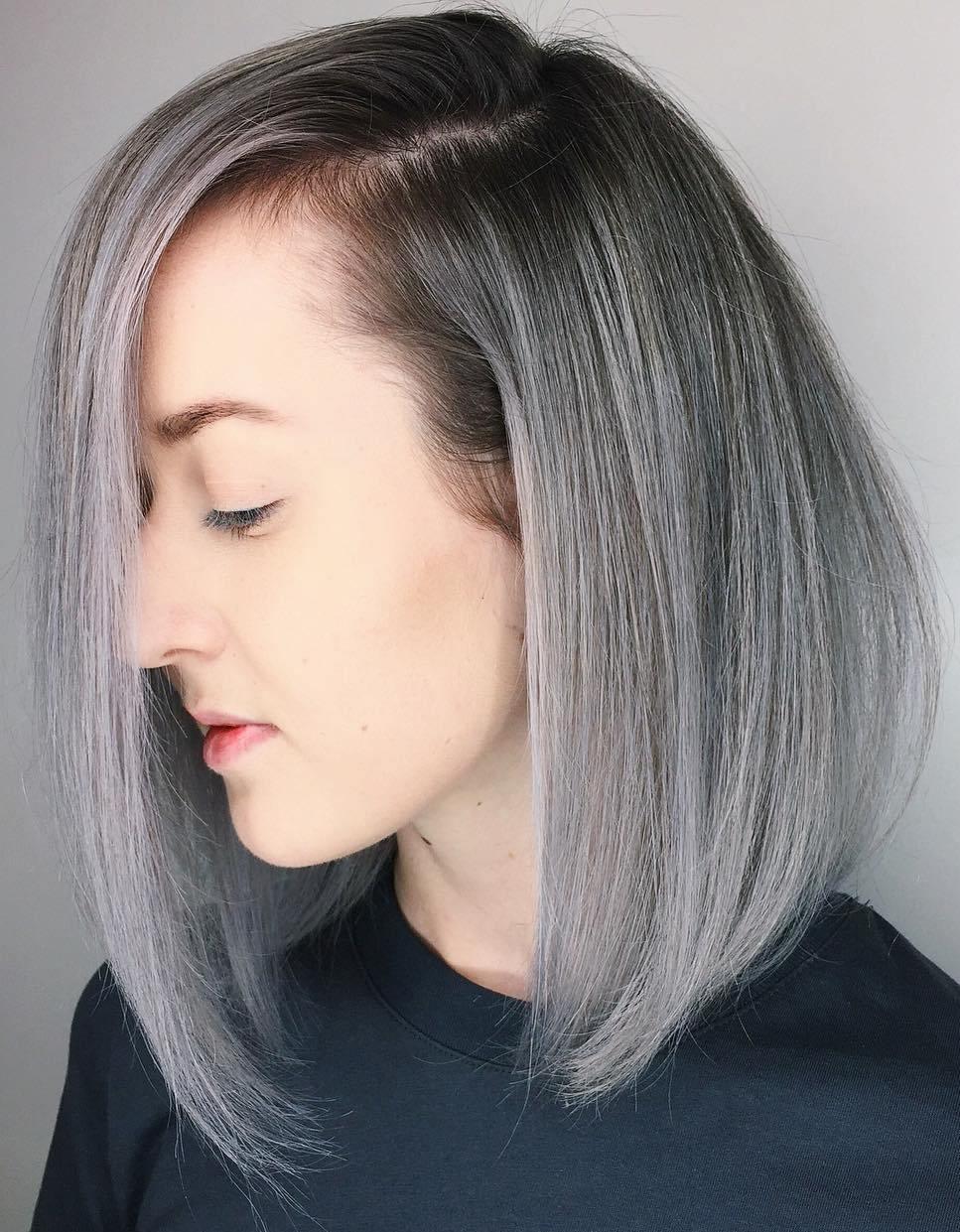 Dramatic Asymmetrical Silver Lob