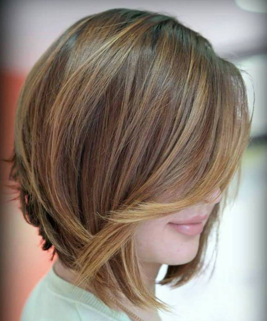 Inverted Bob with Toasted Bronde Highlights